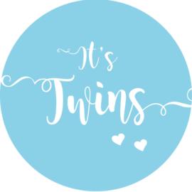 Geboorte sluitzegels | Tweeling | It's twins | licht blauw