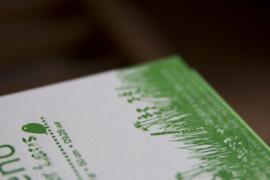Geboortekaartje   letterpress    10 x 15 cm   1 kleur   'Waslijn It's a boy ' vanaf