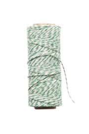 Twine touw | Bakkerstouw | donker groen/wit