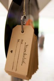 Trouwkaart   letterpress     Trouwstijl   11 x 17cm   2 keuren   'Ze leefden nog lang en gelukkig' vanaf