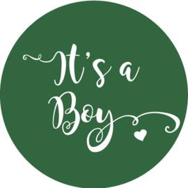 Geboorte sluitzegels | It's a boy | donker groen