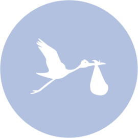 Geboorte sluitzegels | Ooievaar | baby blauw