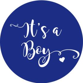 Geboorte sluitzegels | It's a boy | donker blauw