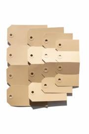 Kraft labels | 55 x 110 mm
