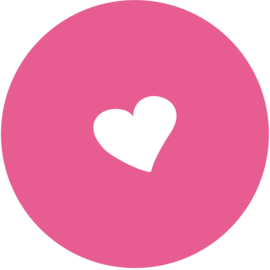 Geboorte sluitzegels | Hart | fuchsia roze
