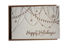 Kerstkaart en labels  | Set 'Kerst'  | rood/roze/brons
