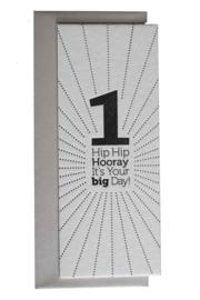 Verjaardagskaart | Hip Hip Hooray 1 | zwart