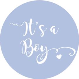 Geboorte sluitzegels | It's a boy | baby blauw