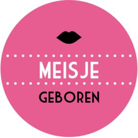Geboorte sluitzegels | Lippen meisje | fuchsia roze