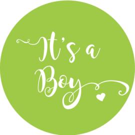 Geboorte sluitzegels | It's a boy | groen