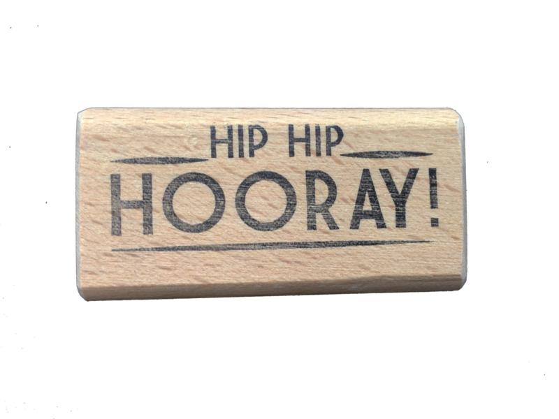 Stempel verjaardag   Hip Hip Hooray!