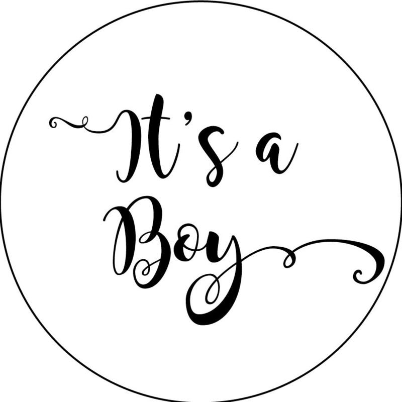 Geboorte sluitzegels | It's a boy | wit/zwart