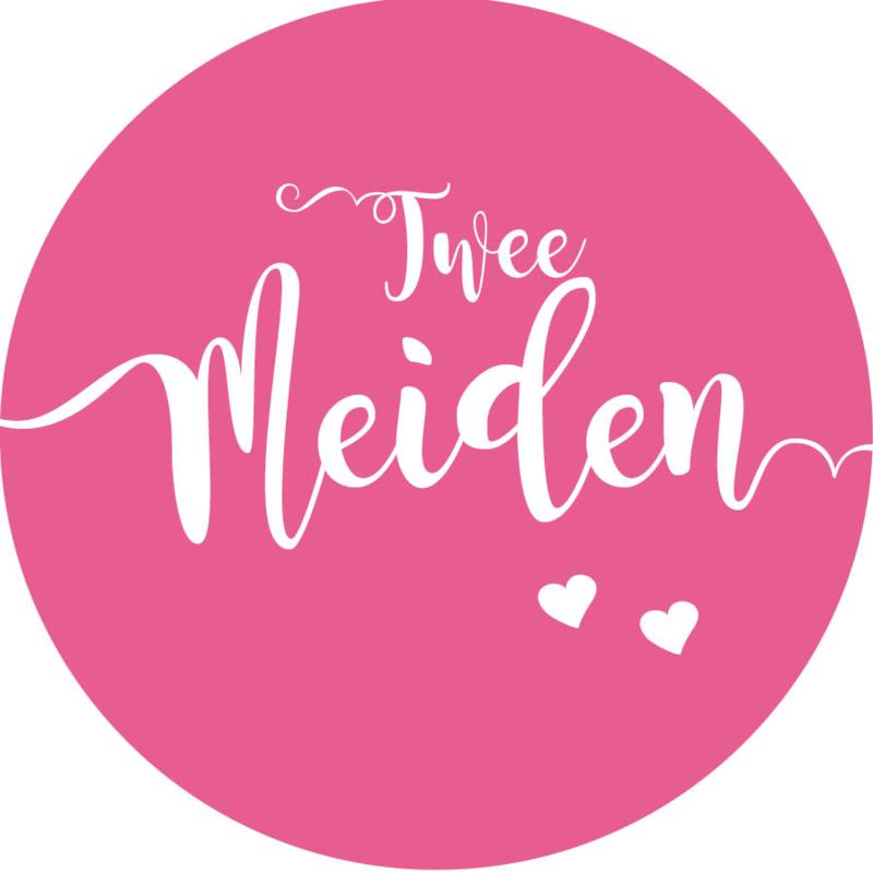 Geboorte sluitzegels   Tweeling   Twee meiden   fuchsia roze