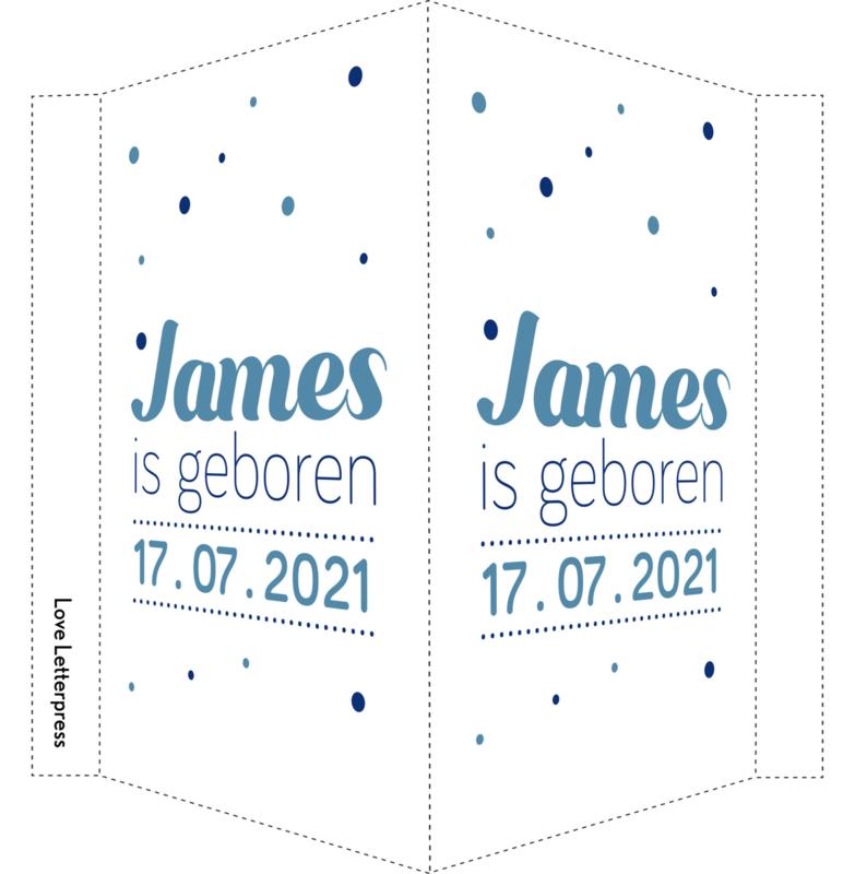 Geboortebord/ raambord | confetti| zoon | blauw vanaf