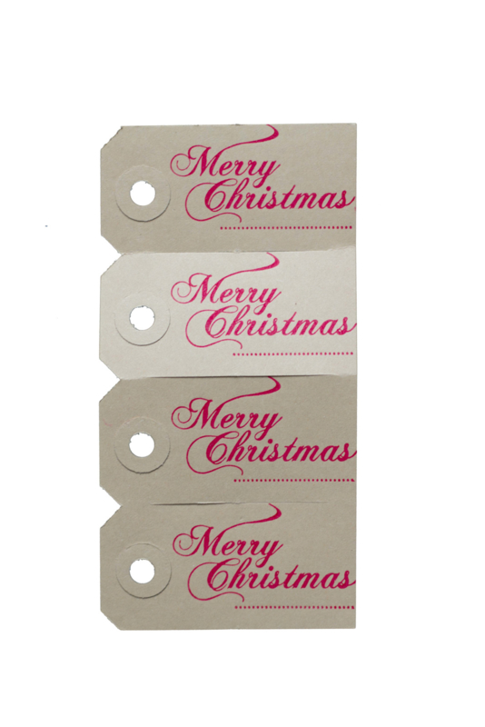 Kerst labels | Merry Christmas | neon roze