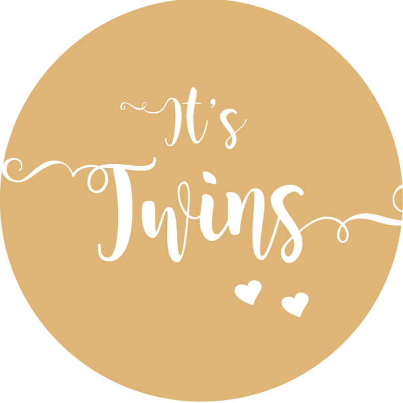 Geboorte sluitzegels | Tweeling | It's twins | zand