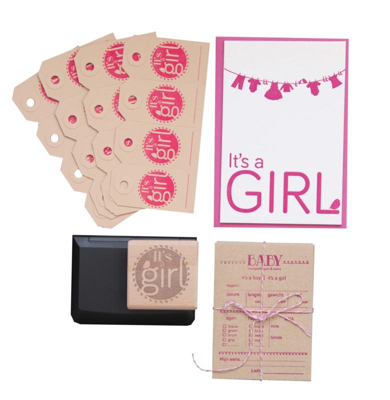 Babyshower pakket | It's a girl geboortestijl | meisje
