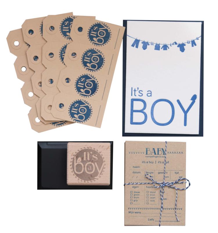 Babyshower pakket | It's a boy geboortestijl | jongen