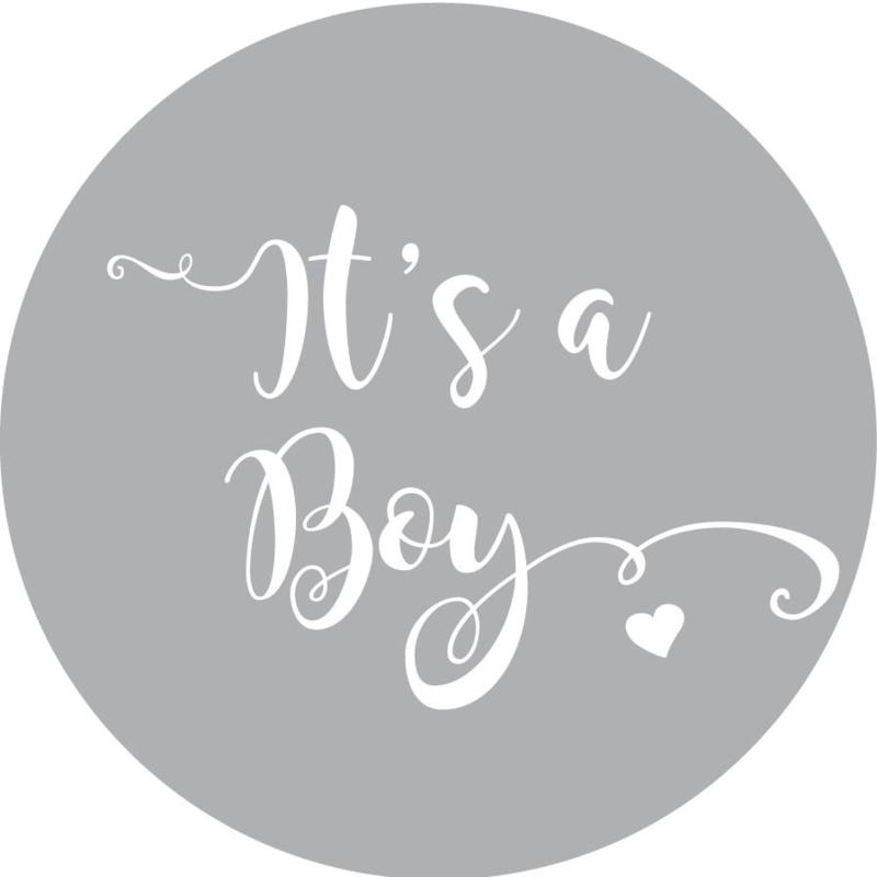 Geboorte sluitzegels | It's a boy | grijs