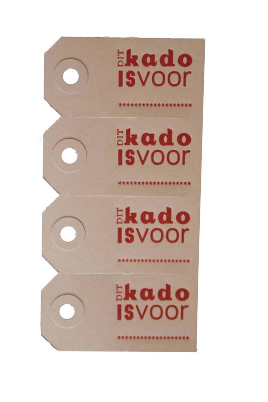 Labels | Dit kado is voor | rood