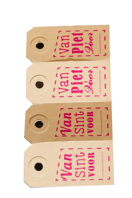 Labels | Sint en Piet | fluor roze