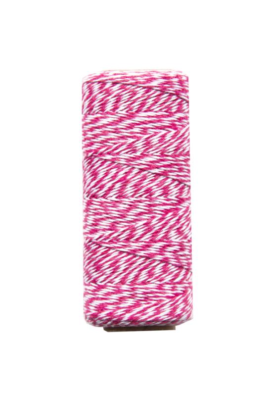 Twine touw | Bakkerstouw | l roze/wit