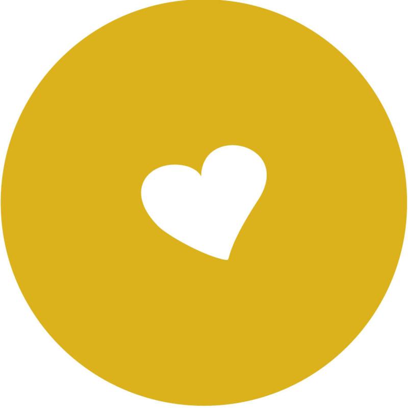 Geboorte sluitzegels | hart | okergeel