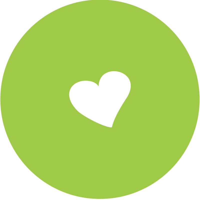 Geboorte sluitzegels | hart | groen