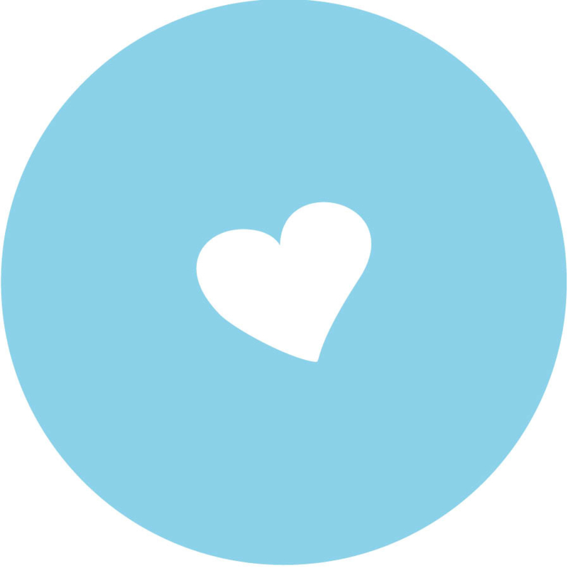 Geboorte sluitzegels | hartje | licht blauw
