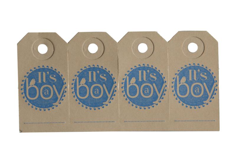 Labels| It's a boy | blauw