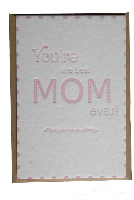 Kaart Moederdag   You're the best mom ever   rosé quartz