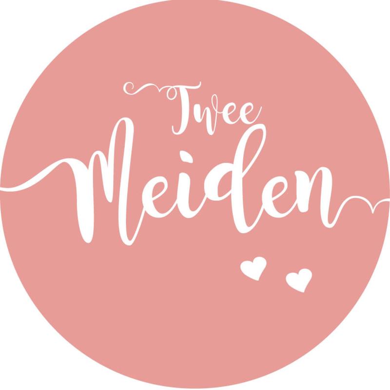 Geboorte sluitzegels | Tweeling | Twee meiden | oudroze