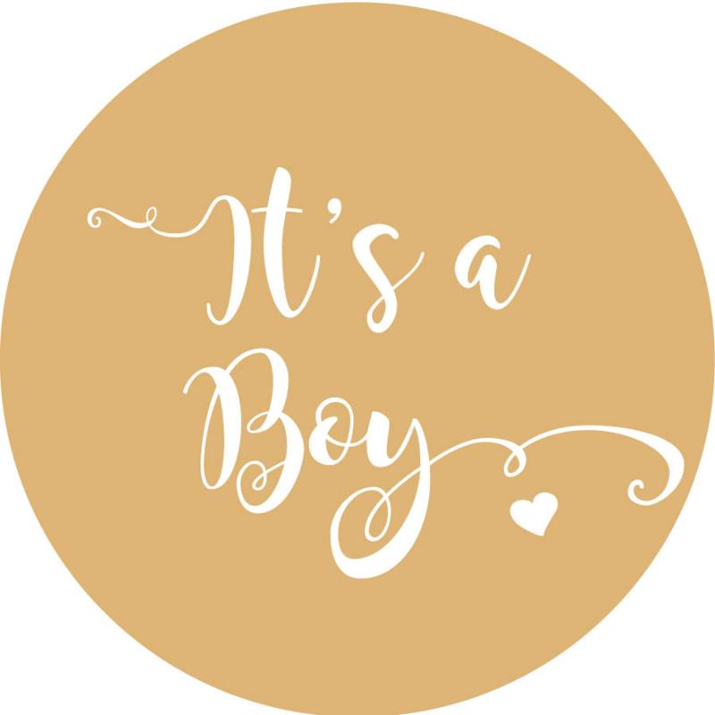 Geboorte sluitzegels | It's a boy | zand