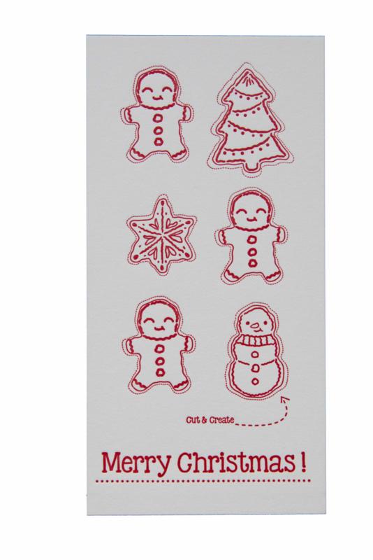 Kerstkaart | Cut & create 'Merry christmas' | 600 gram | rood