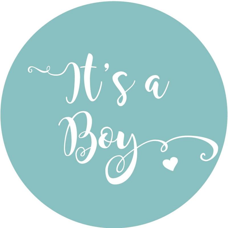 Geboorte sluitzegels | It's a boy | petrol