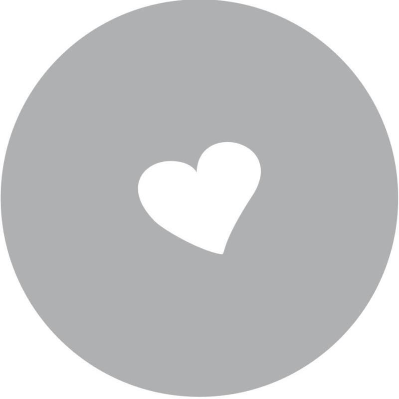 Geboorte sluitzegels | hartje | grijs