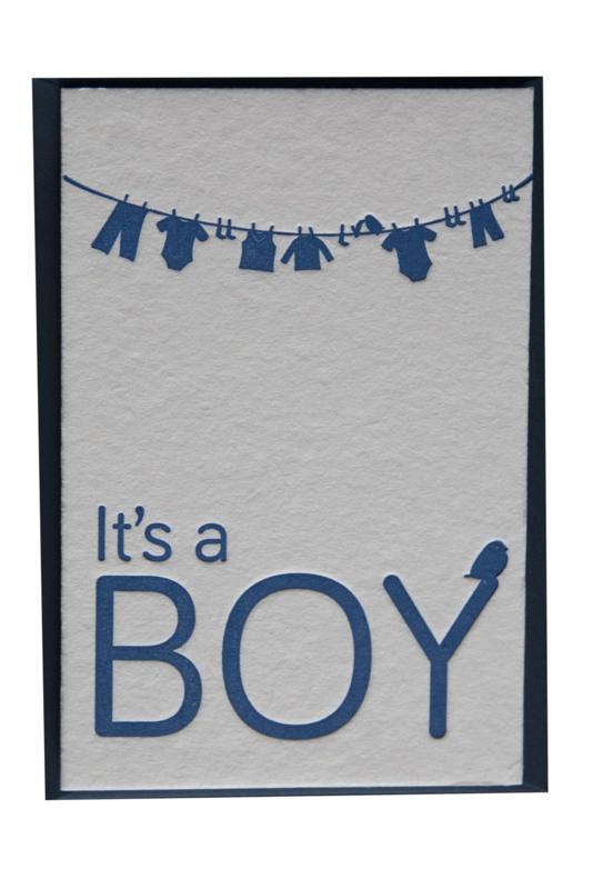 Kaart geboorte | It's a boy | blauw