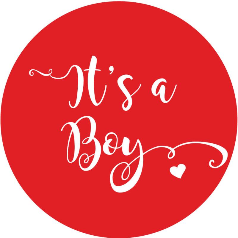 Geboorte sluitzegels | It's a boy | rood