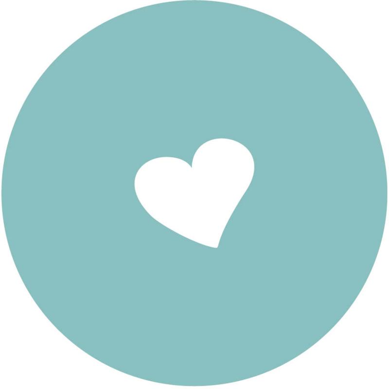 Geboorte sluitzegels | hart | petrol