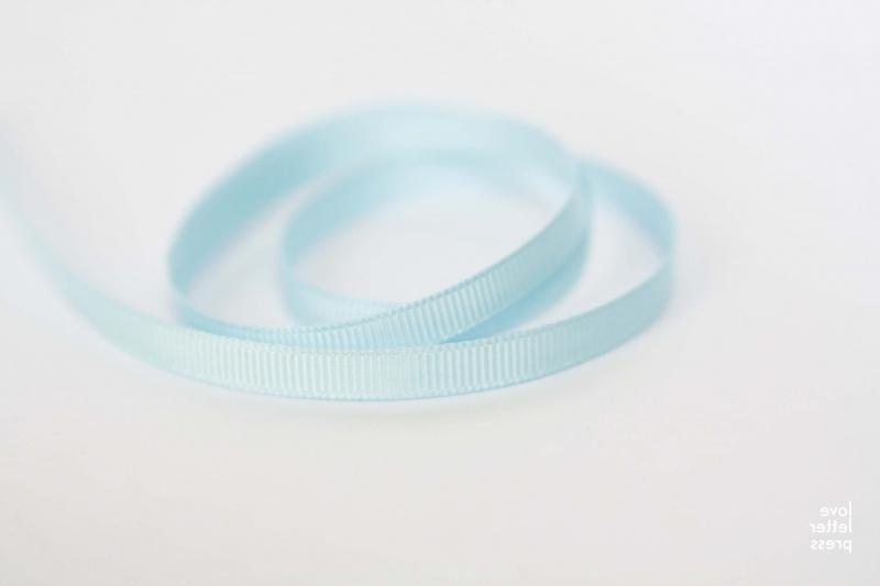 Lint | ribbel 6 mm| licht blauw