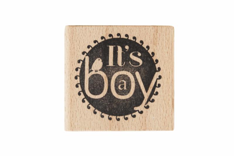 Stempel geboorte   It's a boy