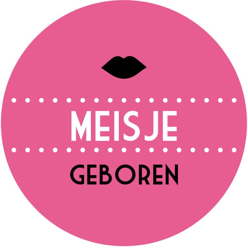 Geboorte sluitzegels   Lippen meisje   fuchsia roze
