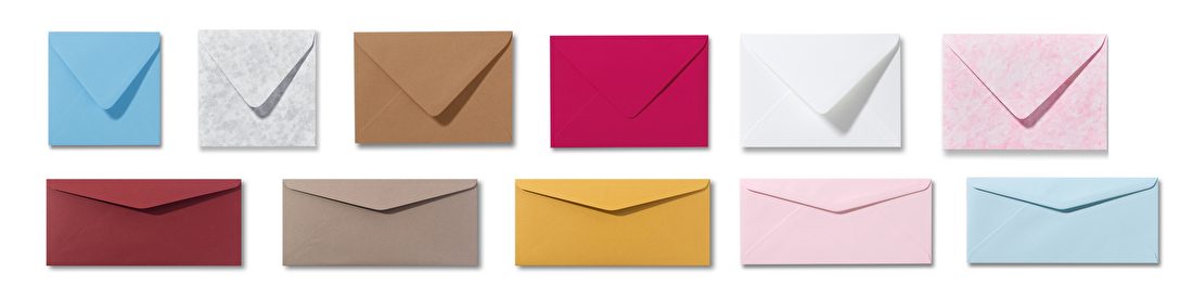 gekleurde enveloppen, luxe, geboorte, trouwkaart, kwaliteit