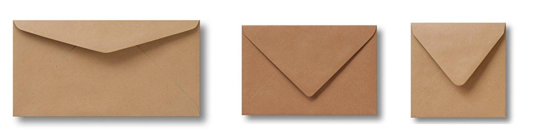 kraft enveloppen, bruin met streep, duurzaam, recylcebaar