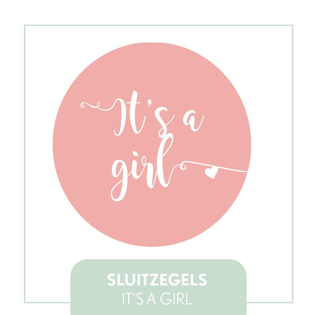 sluitzegels/stickers it's a girl hip modern goedkoop