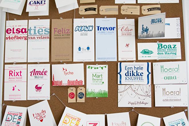 geboortekaarten letterpress hip modern minimalistisch goedkoop