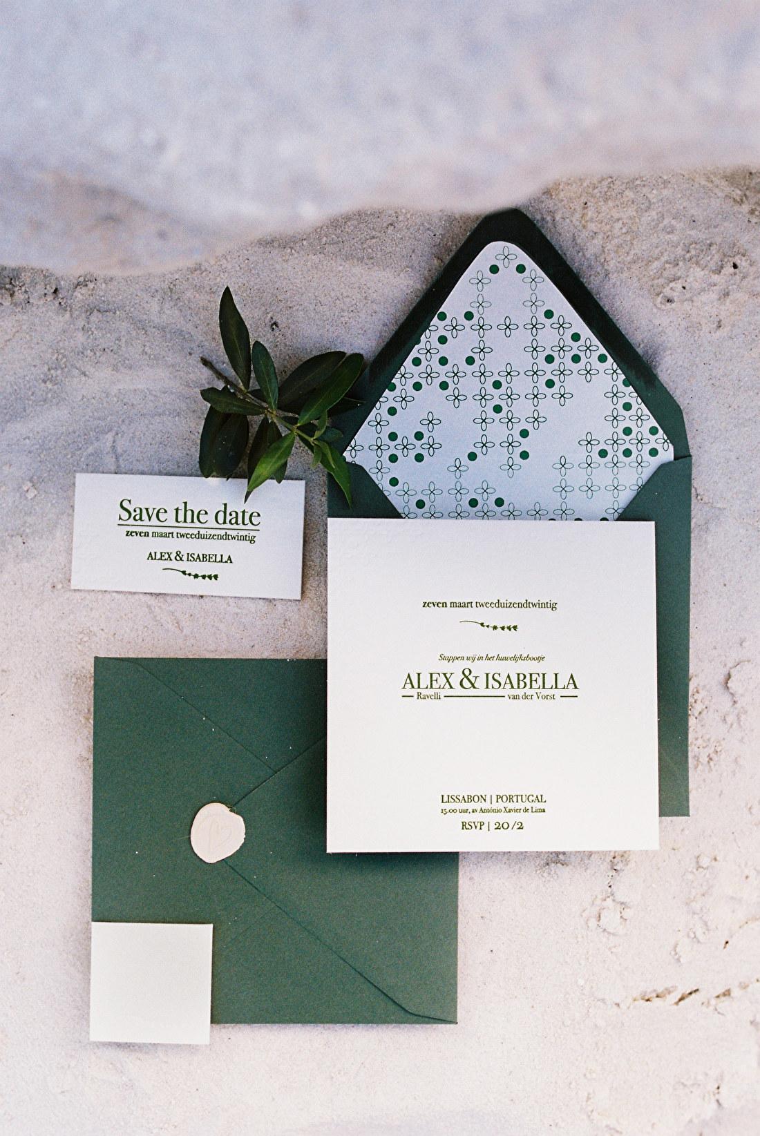 Gevoerde enveloppen, geboortekaartje, trouwkaart, trouwkaarten, trouwstijl, letterpress, op  maat