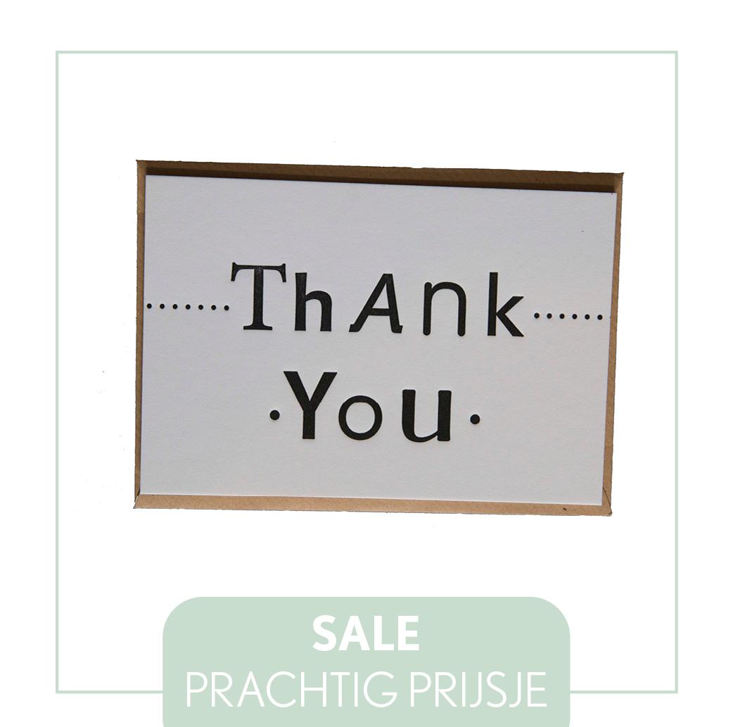 Sale letterpress goedkoop koopje actie kaarten labels