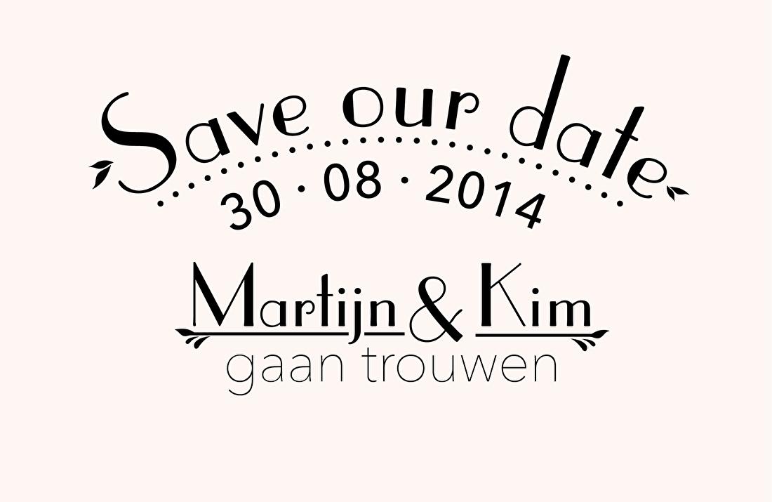 Save the date, digitaal via mail, trouwkaart letterpress, vintage, goedkoop,