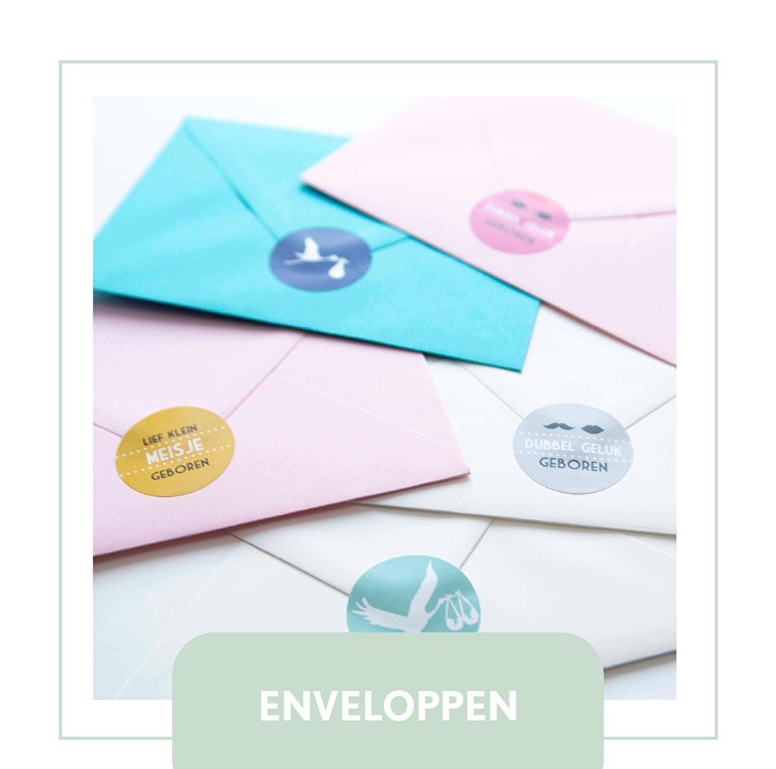 enveloppe, kleur, handgeschept, geboortekaartje, goedkoop,